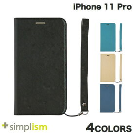 【クーポン有】 Simplism iPhone 11 Pro [FlipNote Smart] サフィアーノ 耐衝撃フリップノートケース スマートON/OFF シンプリズム (iPhone11Pro スマホケース) [PSR]