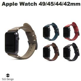 【マラソンクーポン有り】 SLG Design Apple Watch 42mm / 44mm Italian Buttero Leather Strap エスエルジー デザイン (アップルウォッチ ベルト バンド) [PSR]