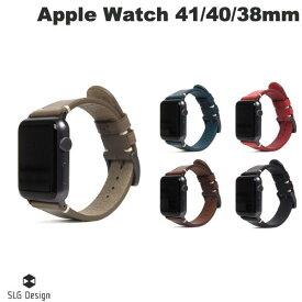 【マラソンクーポン有り】 SLG Design Apple Watch 38mm / 40mm Italian Buttero Leather Strap エスエルジー デザイン (アップルウォッチ ベルト バンド) [PSR]