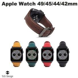 【マラソンクーポン有り】 SLG Design Apple Watch 42mm / 44mm Italian Minerva Box Leather エスエルジー デザイン (アップルウォッチ ベルト バンド) [PSR]