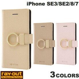 [ネコポス発送] Ray Out iPhone SE 第2世代 / 8 / 7 手帳型レザーケース TETRA リング付き レイアウト (iPhoneSE 第2世代 / 8 / 7 スマホケース) [PSR]