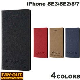 [ネコポス発送] Ray Out iPhone SE 第2世代 / 8 / 7 ディズニー 耐衝撃 手帳型レザーケース サイドマグネット レイアウト (iPhoneSE 第2世代 / 8 / 7 スマホケース) [PSR]