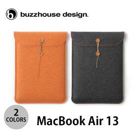 buzzhouse design MacBook Air 13インチ M1 2020 ~ 2018 対応 ハンドメイドフェルトケース バズハウスデザイン (Macノート用 スリーブケース) [PSR]