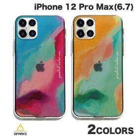 [ネコポス発送] Dparks iPhone 12 Pro Max ソフトクリアケース Pastel color ディーパークス (iPhone12ProMax スマホケース) [PSR]
