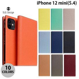 【マラソンクーポン有り】 SLG Design iPhone 12 mini Full Grain Leather Flip Case 本革 手帳型ケース エスエルジー デザイン (iPhone12mini スマホケース) [PSR]
