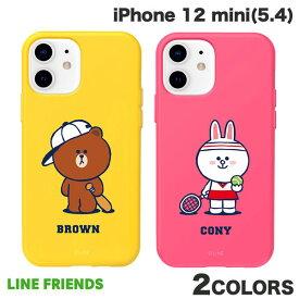 [ネコポス発送] LINE FRIENDS iPhone 12 mini Brown's Sports Club COLOR SOFT ラインフレンズ (iPhone12mini スマホケース) [PSR]