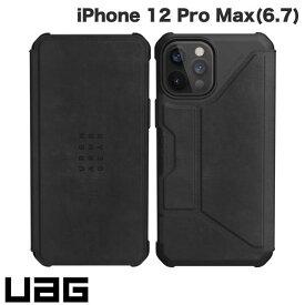 [ネコポス送料無料] UAG iPhone 12 Pro Max METROPOLIS 耐衝撃 フォリオケース レザーブラック # UAG-IPH20LF-LBK ユーエージー (iPhone12ProMax スマホケース) [PSR]