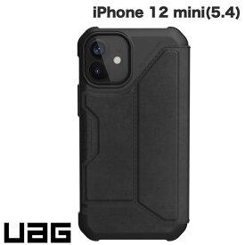[ネコポス送料無料] UAG iPhone 12 mini METROPOLIS 耐衝撃 フォリオケース レザーブラック # UAG-IPH20SF-LBK ユーエージー (iPhone12mini スマホケース) [PSR]