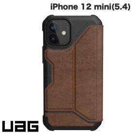 [ネコポス送料無料] UAG iPhone 12 mini METROPOLIS 耐衝撃 フォリオケース レザーブラウン # UAG-IPH20SF-LBR ユーエージー (iPhone12mini スマホケース) [PSR]