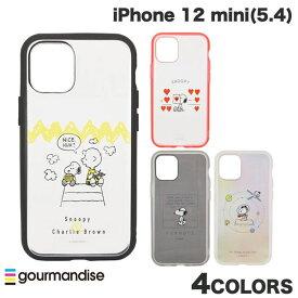 [ネコポス発送] gourmandise iPhone 12 mini ケース IIIIfi+ (イーフィット) CLEAR ピーナッツ グルマンディーズ (iPhone12mini スマホケース) [PSR]
