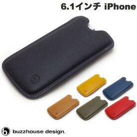 [ネコポス送料無料] buzzhouse design iPhone 12 / 12 Pro ハンドメイドレザーケース 縦スリーブタイプ バズハウスデザイン (iPhone12 / 12Pro スマホケース) [PSR]
