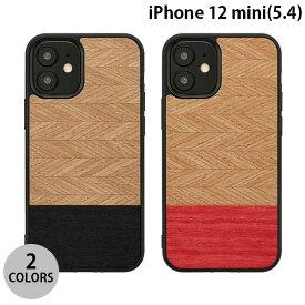 【マラソンクーポン有】 [ネコポス発送] Man & Wood iPhone 12 mini 天然木ケース マンアンドウッド (iPhone12mini スマホケース) [PSR]