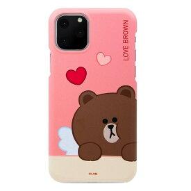 [ネコポス発送] LINE FRIENDS iPhone 11 Pro Max SLIM FIT CUPID LOVE ブラウン # KCJ-SCM001 ラインフレンズ (iPhone11ProMax スマホケース) [PSR]