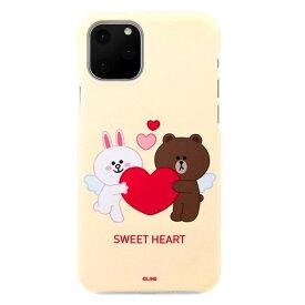 [ネコポス発送] LINE FRIENDS iPhone 11 Pro Max SLIM FIT CUPID LOVE スウィートハート1 # KCJ-SCM003 ラインフレンズ (iPhone11ProMax スマホケース) [PSR]