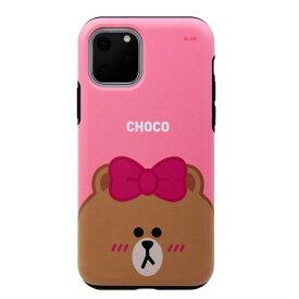 [ネコポス発送] LINE FRIENDS iPhone 11 Pro DUAL GUALD Full Face CHOCO # KCJ-DFT003 ラインフレンズ (iPhone11Pro スマホケース) [PSR]