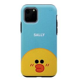 [ネコポス発送] LINE FRIENDS iPhone 11 Pro DUAL GUALD Full Face SALLY # KCJ-DFT004 ラインフレンズ (iPhone11Pro スマホケース) [PSR]