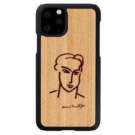 [ネコポス発送] Man & Wood iPhone 11 Pro 天然木ケース アンリ・マティス カティア # I16827i58R マンアンドウッド (iPhone11Pro スマホケース) [PSR]