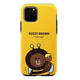 [ネコポス発送] LINE FRIENDS iPhone 11 Pro JUNGLE BROWN DUAL GUARD バジーブラウン # KCJ-DJT002 ラインフレンズ (iPhone11Pro スマホケース) [PSR]
