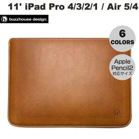 buzzhouse design 10.9インチ iPad Air 第4世代 / 11インチ iPad Pro M1 第3 / 2 / 1世代 ハンドメイドレザーケース (Apple Pencil 2 対応サイズ) バズハウスデザイン (タブレットカバー・ケース) [PSR]
