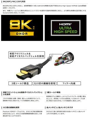 [ネコポス送料無料]エレコム8K/4KHDMIケーブルイーサネット対応HDMI2.1ウルトラハイスピード1.0mブラック#CAC-HD21E10BK(HDMIケーブル)[PSR]