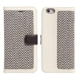 【マラソンクーポン有り】 [ネコポス送料無料] ZENUS iPhone 6 / 6s Herringbone Diary アイボリー # Z4043i6 ゼヌス (iPhone6 / iPhone6s スマホケース) [PSR]
