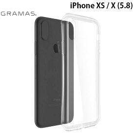 【マラソンクーポン有】 [ネコポス発送] GRAMAS iPhone XS / X Glass Hybrid Clear Case # CHC-50327CLR グラマス (iPhoneXS / iPhoneX スマホケース) [PSR]