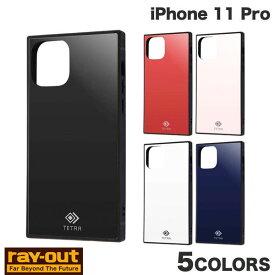 [ネコポス発送] Ray Out iPhone 11 Pro 耐衝撃ガラスケース TETRA レイアウト (iPhone11Pro スマホケース) [PSR]