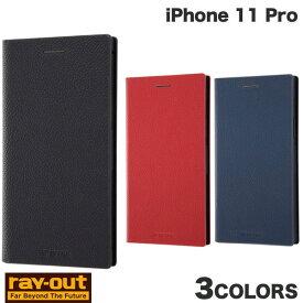 [ネコポス発送] Ray Out iPhone 11 Pro 耐衝撃 手帳型レザーケース TETRA サイドマグネット レイアウト (iPhone11Pro スマホケース) [PSR]