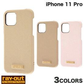 Ray Out iPhone 11 Pro 耐衝撃 オープンレザーケース TETRA プレート付き レイアウト (iPhone11Pro スマホケース) [PSR]