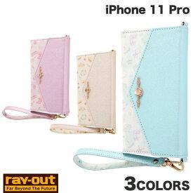 【クーポン有】 Ray Out iPhone 11 Pro ディズニーキャラクタープリンセス 手帳型レザーケース Collet チャーム+ストラップ付き レイアウト (iPhone11Pro スマホケース) [PSR]
