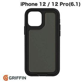 【マラソンクーポン有り】 [ネコポス送料無料] Griffin Technology iPhone 12 / 12 Pro Survivor Extreme Asphalt 耐衝撃ケース Black / Black # GIP-060-BLK グリフィンテクノロジー (iPhone12 / 12Pro スマホケース) [PSR]