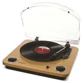 ION Audio Max LP スピーカー内蔵 レコードプレーヤー ウッド調 # IA-TTS-013 アイオンオーディオ (USBレコードプレーヤー) レコードプレイヤー [PSR]