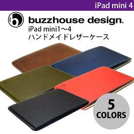 buzzhouse design iPad mini 1〜5 ハンドメイドレザーケース バズハウスデザイン (タブレットカバー・ケース) [PSR]