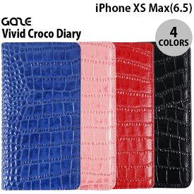 [ネコポス送料無料] GAZE iPhone XS Max Vivid Croco Diary ゲイズ (iPhoneXSMax スマホケース)