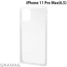 [ネコポス送料無料] GRAMAS iPhone 11 Pro Max Glassty Glass Hybrid Shell Case クリア # CHCGP-IP03CLR グラマス (iPhone11ProMax スマホケース)