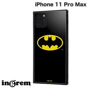 【マラソンクーポン有り】[ネコポス発送] ingrem iPhone 11 Pro Max バットマン 耐衝撃ハイブリッドケース KAKU バットマンロゴ # IQ-WP22K3TB/BM001 イングレム (iPhone11ProMax スマホケース)