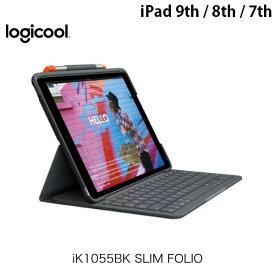 LOGICOOL iPad 7th iK1055BK SLIM FOLIO Bluetooth キーボードケース US配列 # iK1055BK ロジクール (タブレット用キーボード付ケース)