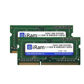 【マラソンクーポン有】[あす楽対応] iMac メモリ 増設 iRam PC3-14900 (DDR3-1866) SO.DIMM 16GB ( 8GB x 2枚組 ) # IR8GSO1866D3/2 アイラム (Macメモリー)