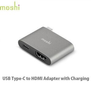【クーポン有】[ネコポス送料無料] moshi USB Type-C to HDMI Adapter 充電機能付き 4K対応 PD対応 Titanium Gray # mo-uchdc-gy エヴォ (電池)