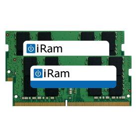 [あす楽対応] iRam PC4-21300 DDR4 2666MHz SO.DIMM 32GB (2x16GB) # IR16GSO2666D4/2 アイラム (Macメモリー)