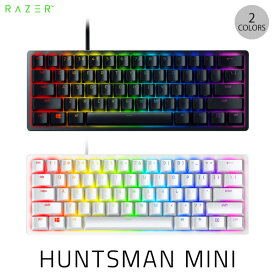 【クーポン配布中】 Razer Huntsman Mini 英語配列 クリッキーオプティカルスイッチ ゲーミング ミニキーボード レーザー (キーボード) US配列