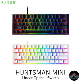 [あす楽対応] Razer Huntsman Mini 英語配列 静音リニアオプティカルスイッチ ゲーミング ミニキーボード レーザー (キーボード)