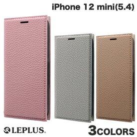 【フラッシュクーポン有】[ネコポス発送] LEPLUS iPhone 12 mini 薄型PUレザーフラップケース FOLINO ルプラス (iPhone12mini スマホケース)