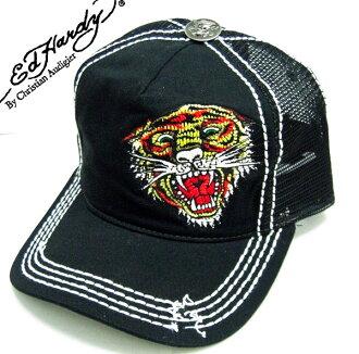 Ed Hardy(埃德哈迪)盖子CAP ED HARDY TIGER虎损伤加工黑色A0O0HAAZ埃德·哈迪EDHARDY帽子