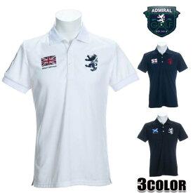 アドミラル (AdmiralGOLF) ポロシャツ メンズ 半袖 吸水速乾 メンズ フラッグ ポロシャツ ホワイト/ブラック/ネイビー/ M/L/LL/XL