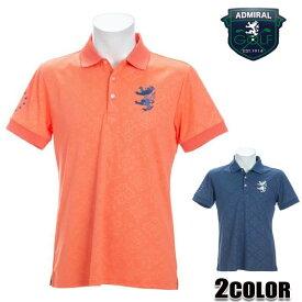アドミラル (AdmiralGOLF) ポロシャツ メンズ 半袖 吸水速乾 接触冷感メンズ リーフエンボス ポロシャツ ADMA147 オレンジ/ネイビー/ M/L/LL