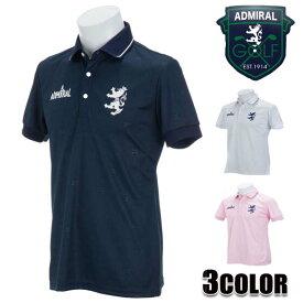 アドミラルゴルフ AdmiralGOLF ポロシャツ メンズ 半袖 ADMA825 ホワイト ネイビー ピンク アドミラル Admiral