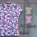 コラボTシャツ エドハーディー×サンリオ ハローキティー Ed Hardy×Sanrio Hello Kitty レディース Tシャツ ラブキル スカル W02SKM エド・ハーディー edhardy
