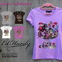 エドハーディー×サンリオ コラボ Tシャツ ハローキティー Ed Hardy×Sanrio Hello Kitty レディース ラブキル スカル W02SKRM エドハーディ エド・ハーディー edh