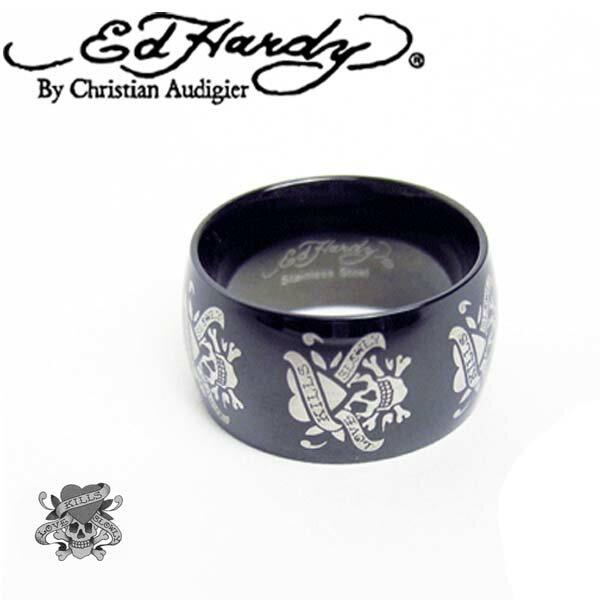 エドハーディー Ed Hardy 指輪 Ring ラブキル スカル ブラック EHRT87SS エドハーディー edhardy タトゥー
